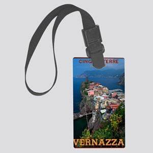 Vernazza from Above Large Luggage Tag