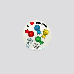 I love ponies-rosettes Mini Button
