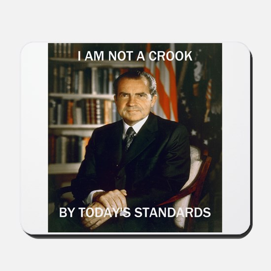 i am not a crook Mousepad
