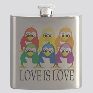 Love-Is-Love-Penguins-Stacked Flask