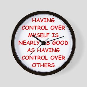 control freak Wall Clock