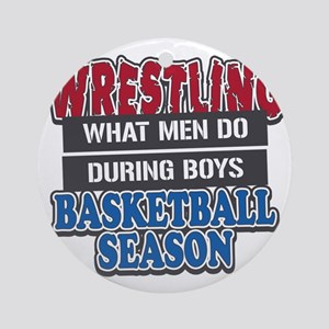 what men do Round Ornament