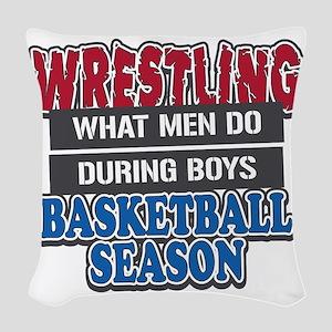 what men do Woven Throw Pillow