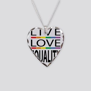 Live-Love-Equality Necklace Heart Charm