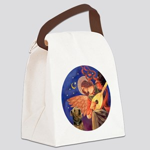 J-ORN-Angel3-Airedale2 Canvas Lunch Bag