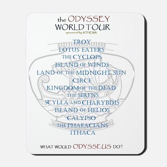 odyssey world tour Mousepad