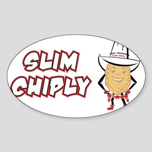 SlimChiply_SlimWhite Sticker (Oval)