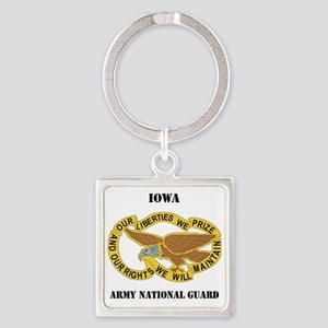 IOWA ANG with text Square Keychain
