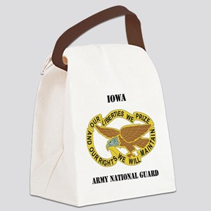 IOWA ANG with text Canvas Lunch Bag
