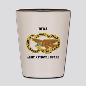 IOWA ANG with text Shot Glass