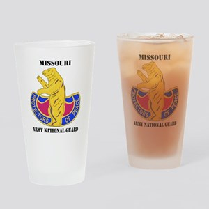 Missouri ANG with text Drinking Glass