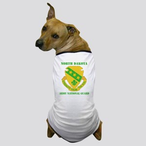 NORTH DAKAOTA ANG with text Dog T-Shirt