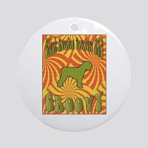 Groovy Terrier Ornament (Round)