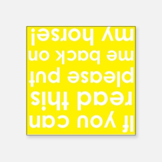 "Upside down yellow Square Sticker 3"" x 3"""