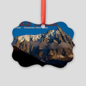 Aiguille du Midi - Paragliders Picture Ornament