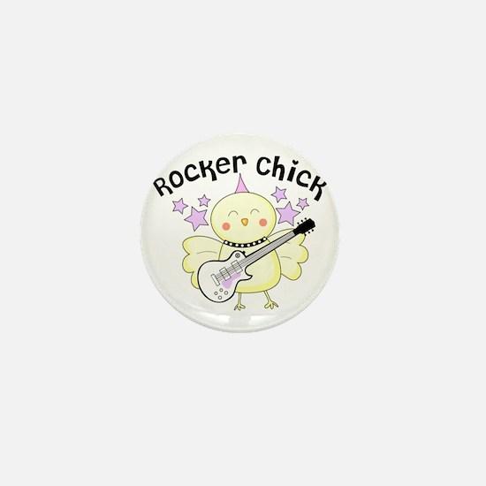 Rocker Chick Mini Button