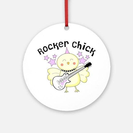 Rocker Chick Round Ornament