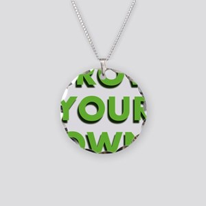 Grow Your Own Necklace Circle Charm