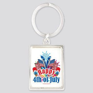 Happy-4th-of-July Portrait Keychain
