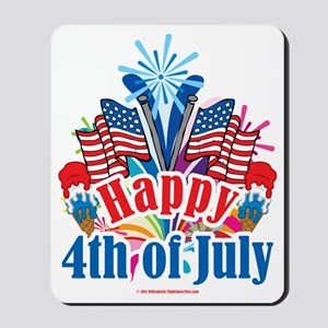 Happy-4th-of-July Mousepad