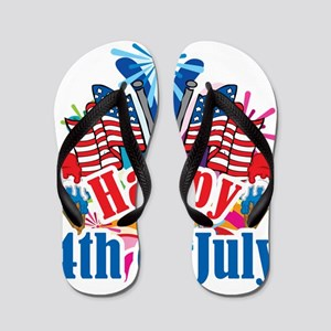Happy-4th-of-July Flip Flops