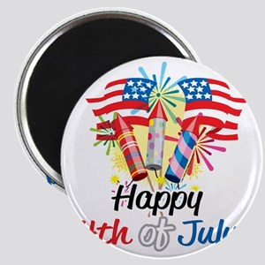 Happy-4th-Fireworks Magnet