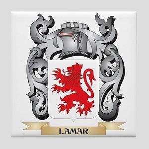 Lamar Coat of Arms - Family Crest Tile Coaster