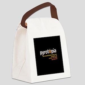 pyrotopia_logo_bigblack Canvas Lunch Bag