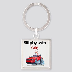 StillPlaysWithCars Square Keychain