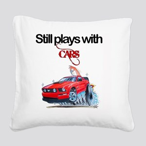 StillPlaysWithCars Square Canvas Pillow