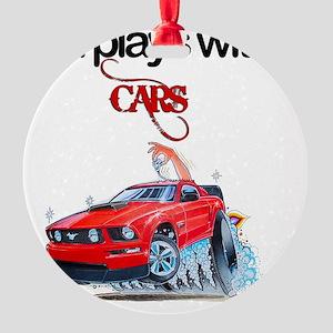 StillPlaysWithCars Round Ornament