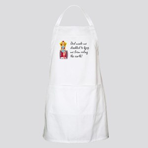 God Made Me Disabled... BBQ Apron