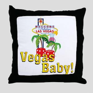 vegas baby final Throw Pillow