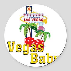 vegas baby final Round Car Magnet