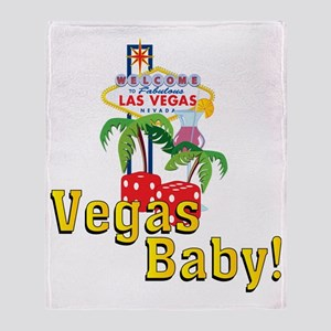 vegas baby final Throw Blanket