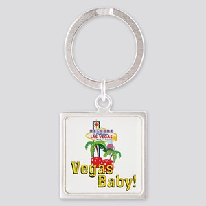 vegas baby final Square Keychain