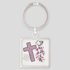 faith 2 Square Keychain