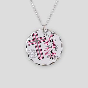 faith 2 Necklace Circle Charm