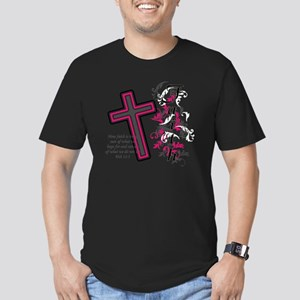 faith 2 Men's Fitted T-Shirt (dark)