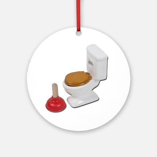 ToiletLargePlunger051411 Round Ornament