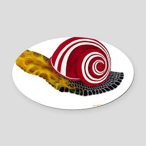 Hotrod snail Oval Car Magnet