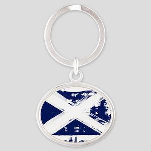 scotland Oval Keychain