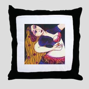 Back Bend Belly Dancer Throw Pillow
