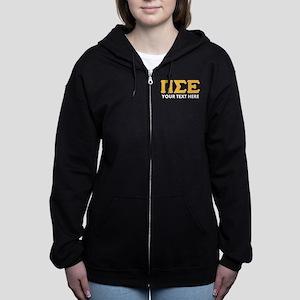 Pi Sigma Epsilon Personalized Women's Zip Hoodie