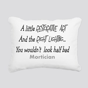 Mortician little restora Rectangular Canvas Pillow
