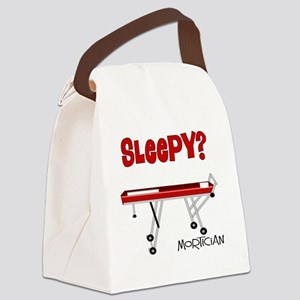 Sleepy mortician Canvas Lunch Bag