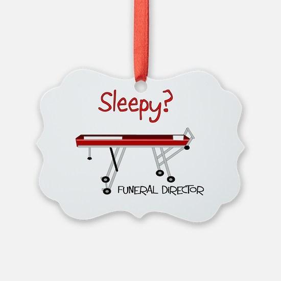 Sleepy funeral director Ornament