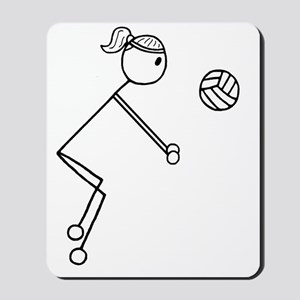 Volleyball girl clear Mousepad