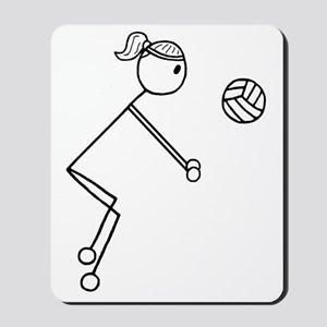 Volleyball girl clear1 Mousepad