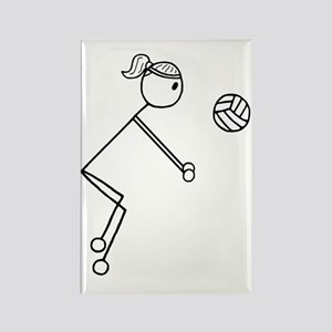 Volleyball girl clear1 Rectangle Magnet